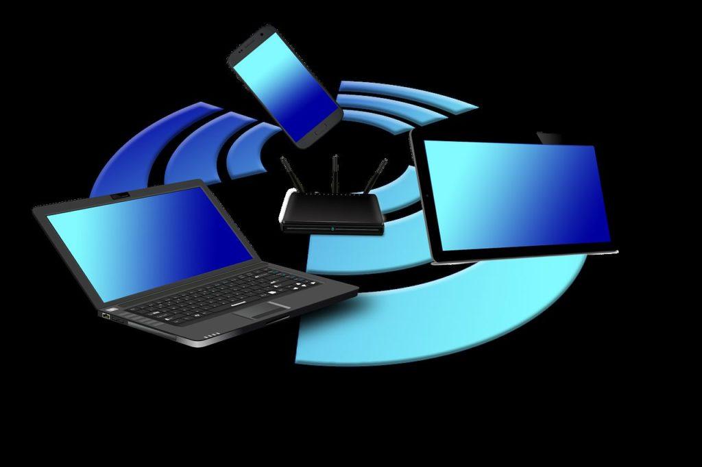 Ilustrasi Jaringan Antar Perangkat (Wireless Router)