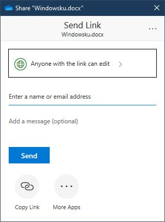 Opsi Berbagi File Folder Onedrive Windows