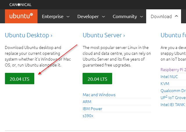 Download Ubuntu 20 04 Lts