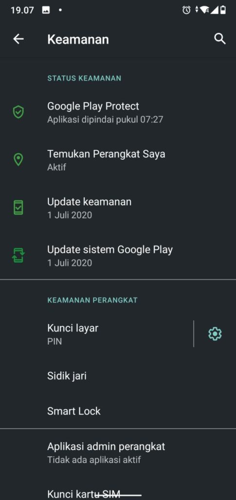 Setelan Keamanan Android