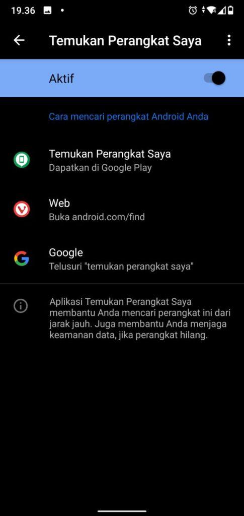 Temukan Perangkat Saya Android