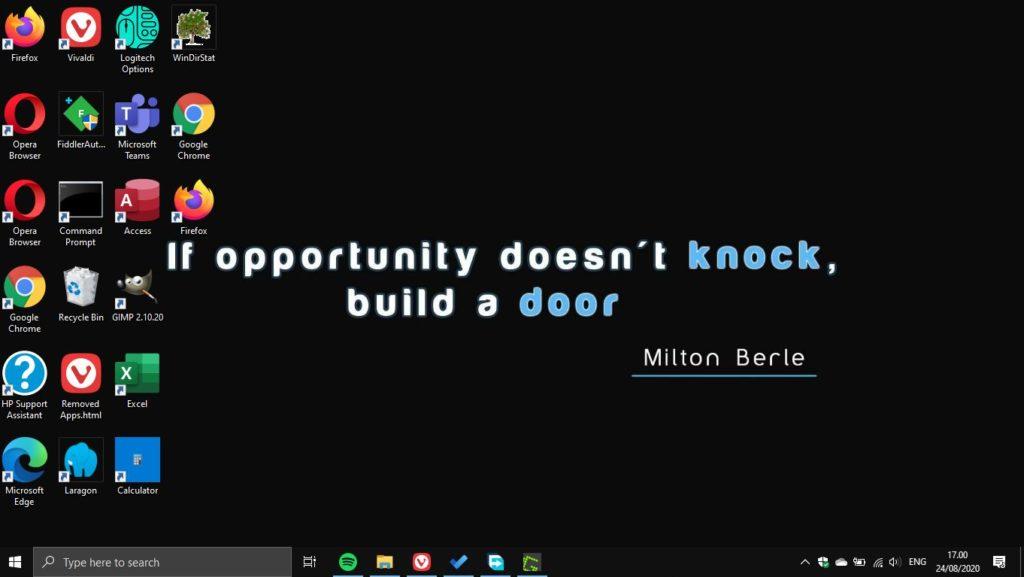 Windows 10 Desktop Dengan Wallpapaer Quote